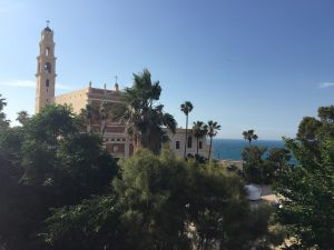 On a tel in Jaffa overlooking the Mediterranean